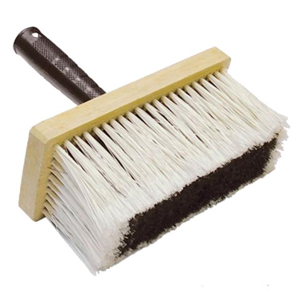 Кисть макловица искусственная щетина, деревянный корпус, пластмассовая ручка