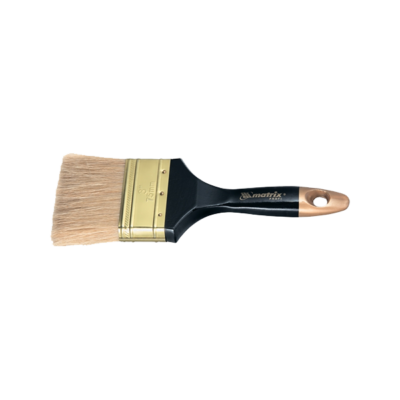 Кисть плоская, натуральная щетина, деревянная ручка, MATRIX Профи