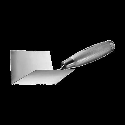 Кельма из нерж. стали, 80х60х60 мм, для внутренних углов, деревянная ручка, MATRIX
