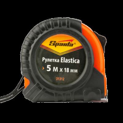 Рулетка Elastica, 5мх18мм, обрезиненный корпус SPARTA