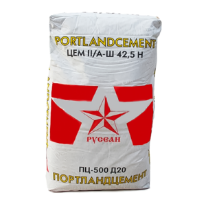 Цемент М-500 Д20 Русеан 40 кг, шт