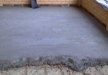 напольная стяжка цемент пескобетон