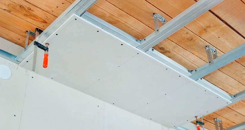 Как крепить профиль для гипсокартона к потолку и стенам